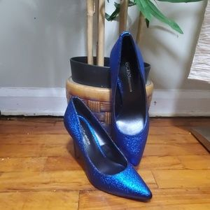 Shimmering Royal Blue Pumps